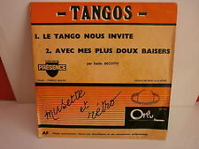 EMILE DECOTTY Le tango nous invite ORLY PROMO DN 594 ACCORDEON MUSETTE