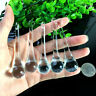 5Pc Clear CRYSTAL Glass Chandelier icicles Prism Drop Hanging Pendant SUNCATCHER