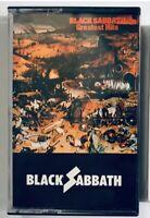 VINTAGE Black Sabbath GREATEST HITS Cassette Tape PAPER LABEL import NEC 6009