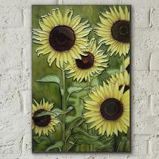 Sunflowers 8x12 Decorative Ceramic Picture Art Tile Floral Summer Decor 05844