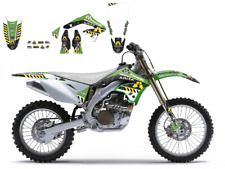 New Kawasaki KXF 450 06 07 08 ARMA ENERGY SERIES GRAPHIC KIT BLACKBIRD 2415F