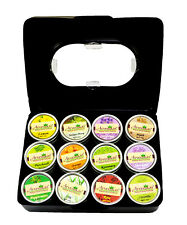 Arvedikas Set of 12 Natural Solid Perfume Body Musk Fragrance Mini Jar 4gm each