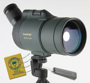 Visionking 25-75x70 Waterproof Spotting Scope Telescope Green & Phone Adapter