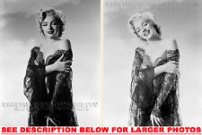 MARILYN MONROE LINGERIE and SKIES (2) RARE 4x6 PHOTOS