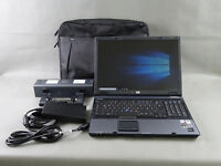HP EliteBook 8710w, Core2Duo T7500 @2,2 GHz 4GB RAM 120GB HDD 1680x1050, Docking