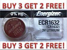 Energizer ECR1632 CR 1632 Lithium 3V Battery Brand NEW BUY 3 GET 2 FREE!!