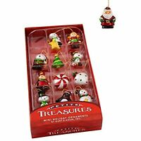 "Kurt S. Adler 1.25""Petite Treasures Mini Ornament Set of 12, Christmas Decor"