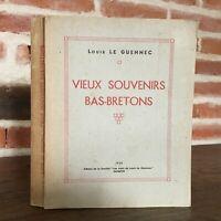 Louis Il Guennec Vecchio Souvenir Bas-Bretons Societè I Amis Di Quimper 1938