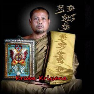 Thep Jamlang Kruba Krissana Thai Amulet King Of Butterfly Good Luck Charm Wealth