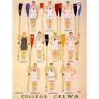 Paintings Drawing Sport Rowing College Crew American University Usa Framed Print