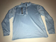 Straight Down Clothing Long Sleeve 1/4 Zip Shirt Baby Blue Mens Size Large EUC!
