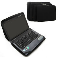 """Black Notebook Fixed Sleeve Case Bag Cover For 10"""" 12"""" 13"""" 14"""" 15"""" 17"""" Laptop PC"""