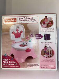 Fisher Price  Stepstool Potty Pink Princess Plays A Tune Potty Training