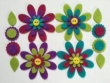 Felt flower shapes for crafts