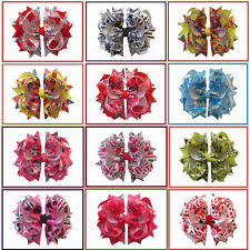 "12 BLESSING Happy Girl Hair Accessories Animation 4.5"" C- Blossom Bow Clip"