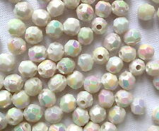 400 MAGNOLIA ROUND FACET JEWELLERY MAKING PLASTIC BEADS CRAFTS  6mm  AB0194