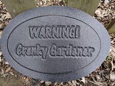 Plaster Concrete Cranky Gardner Plastic Mold mould
