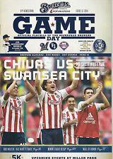 2014 Chivas vs Swansea City Milwaukee Brewers Gameday Program Issue 15