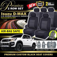 Premium BLACK Isuzu D-MAX TF CREW CAB Seat Covers 2ROWS LS-M LS-U 6/2012-18 DMAX