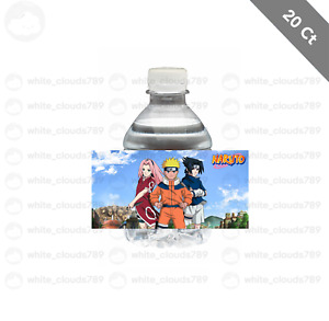 """20 Naruto Water Bottle Label 2"""" x 4"""" Birthday Party Favor Treat Bag Kid Drink"""