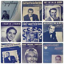 Lot 9 Vintage 1940s Sheet Music Crooners Popular Love Songs Mack David Al Stone