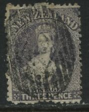New Zealand QV Chalon Head 1864 3d lilac used
