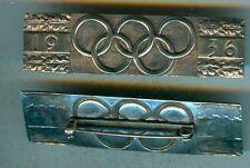 Olympiade 1936,Brosche, Silbern