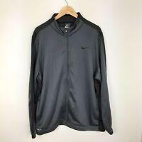 Mens Nike Dri Fit Black Zip Up Track Jacket Size 2XL XXL