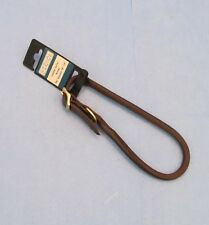 """CASUAL CANINE Rolled Leather Collar 5/8"""" BROWN Adjusts 16"""" - 18"""""""