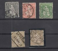 R4117/ SWITZERLAND – SITTING HELVETIA – 1862 USED CLASSIC LOT – CV 740 $