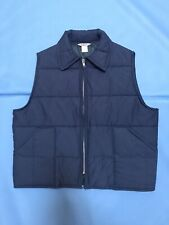 Big Smith Vintage 1970s Blue Quilted Puffer Collared Vest Trucker