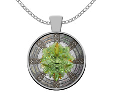 Esoteric necklace - Green Man pagan wicca symbol - Celtic mythology occult gift