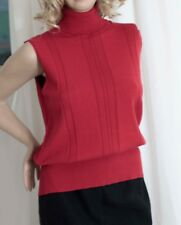 MARINA RINALDI (voyage) Red Stretchy Business Top Size L (large)