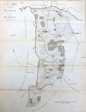 KENT, 1797 - ORIGINAL ANTIQUE MAP of Hundred of MARDEN + STAPLEHURST  - HASTED.