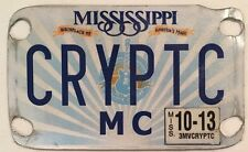 MOTORCYCLE vanity CRYPTIC license plate Mysterious Hidden Code Camouflage Weird
