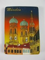 München Frauenkirche bei Nacht Poly Magnet Relief,7 cm,Souvenir Germany