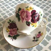 Footed Cup and Saucer set # 8289 By Queen Anne England