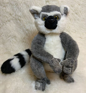 """Animal Alley Plush Ring Tail Lemur Toy Long Tail Stuffed Toys R Us Realistic 10"""""""