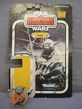 """STAR WARS Vintage """"YODA"""" w/ Cardback Pac Man eyes ESB  Action Figure 1980 Empire"""