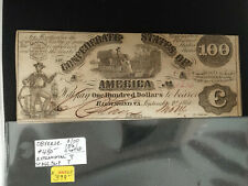 1861 $100 Confederate States W/ $1000 Back