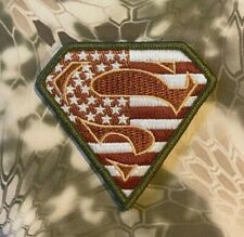 VELCRO® BRAND Hook Fastener Compatible Patch Superman USA Multitan Patches 2.75""