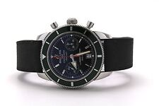 Breitling Superocean Heritage 44mm Chronograph Black Dial Green Bezel A23370