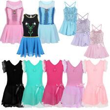 Girls Sequined Ballet Dance Dress Kids Leotard Ballerina Dancewear Fancy Costume