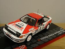 IXO TOYOTA CELICA GT-FOUR ST165 1990 CARLOS SAINZ RALLY CAR MODEL 1:43 CD18
