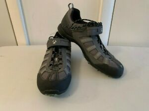 Bontrager Inform Black & Gray Leather Cycling Shoes Women's Size EU 41 US 9.5