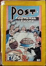 Post Football Guide 1961-62 Football Post, Nottingham