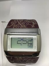 Nike Women's Merge Transit Digital Watch Burgundy / Purple White