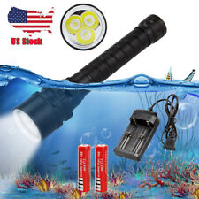 Immersione subacquea immersione 100m 10000Lm 3x XML L2 LED Luce Torcia Scuba 18650