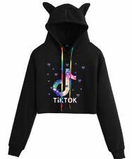Tik Tok Sexy Women's Fleece Hooded Sweatshirt Long Sleeve Pullover New Product