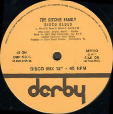 THE RITCHIE FAMILY - Lady Luck / Disco Blues - Derby - Ita 1977 DBR 9206